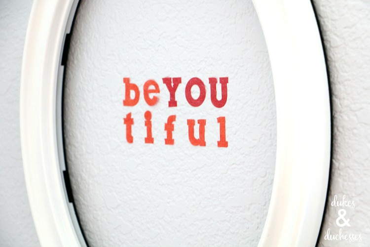 be you wall art made with tissue paper