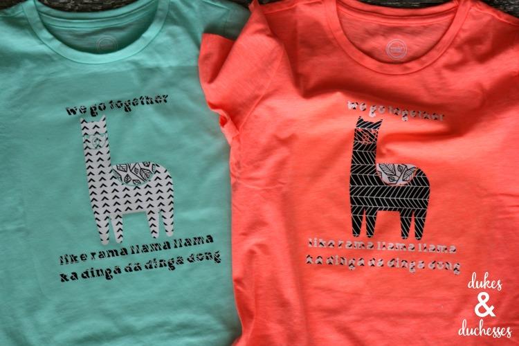 besties llama shirts