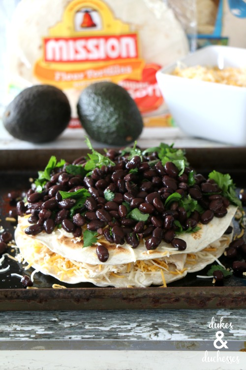 black bean layered quesadilla recipe