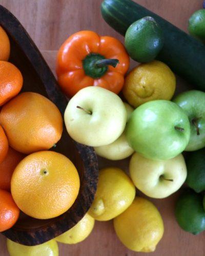 Rainbow Produce Centerpiece
