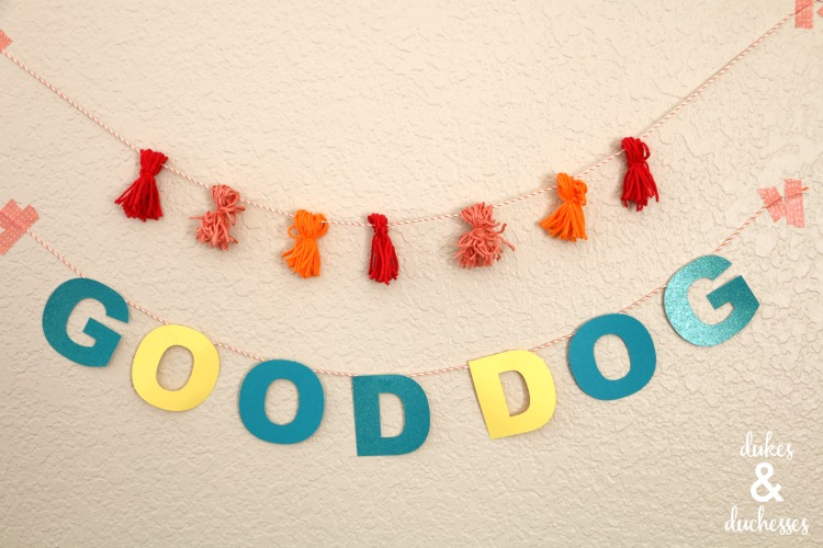 dog birthday party garlands