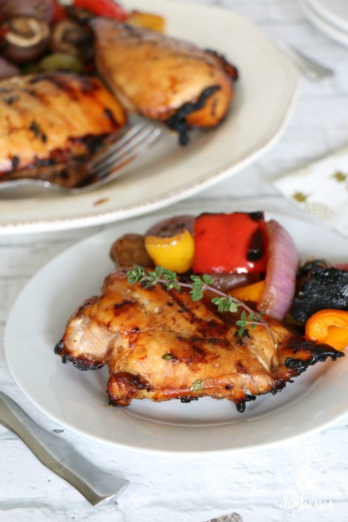 grilled chicken with maple balsamic glaze