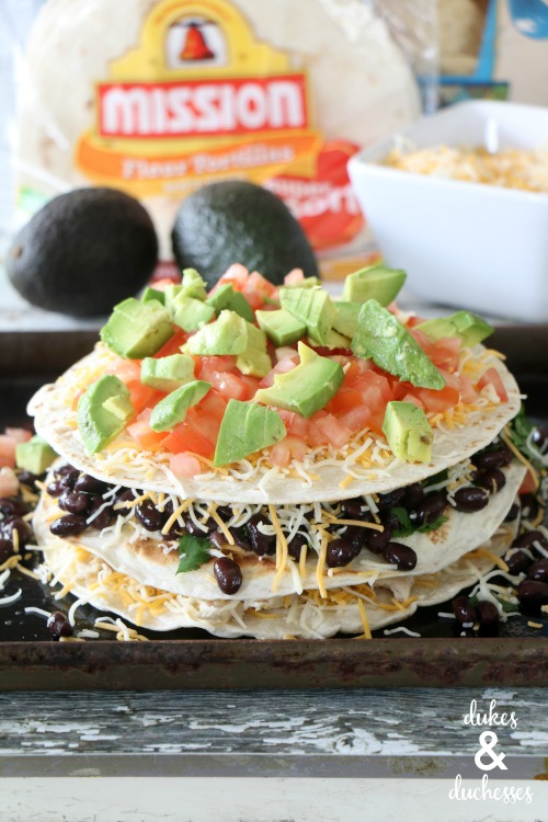 layered quesadilla recipe with mission tortillas