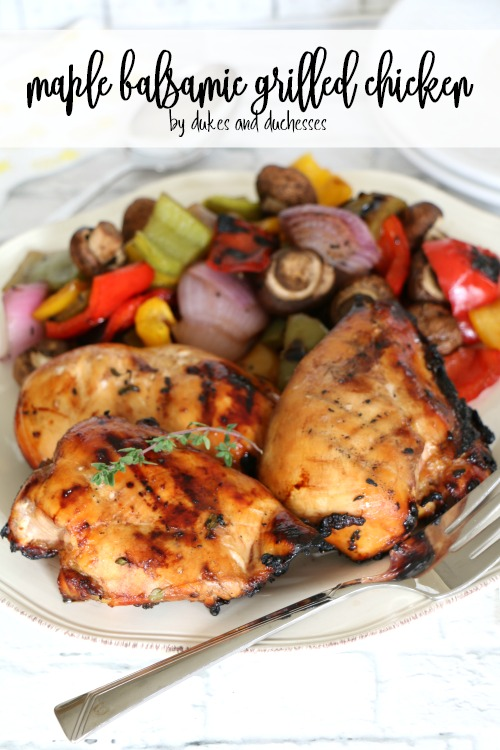 maple balsamic grilled chicken