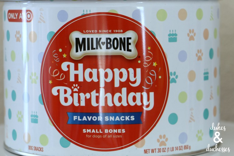 milk bone happy birthday canister at target