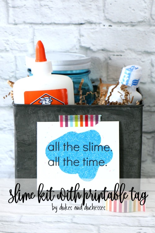 DIY Slime kit with Free Printable Tag and No Borax by Randi Dukes