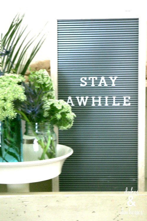 stay awhile letter board