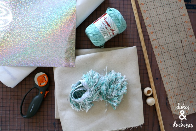 supplies for sparkle wall hanging