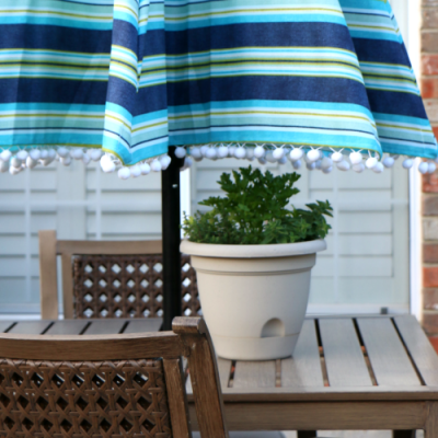 Summer Essentials :: DIY Embellished Outdoor Umbrella and Orkin