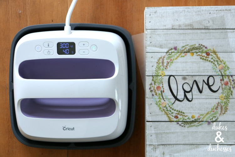 cricut easypress and iron on design