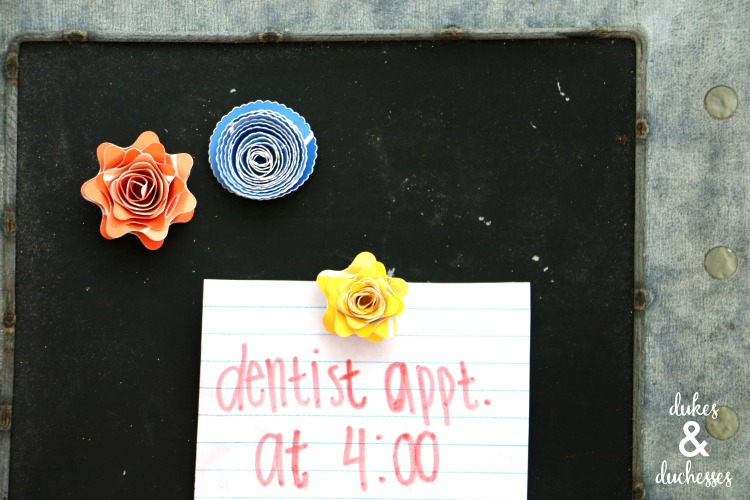 easy paint chip flower magnets