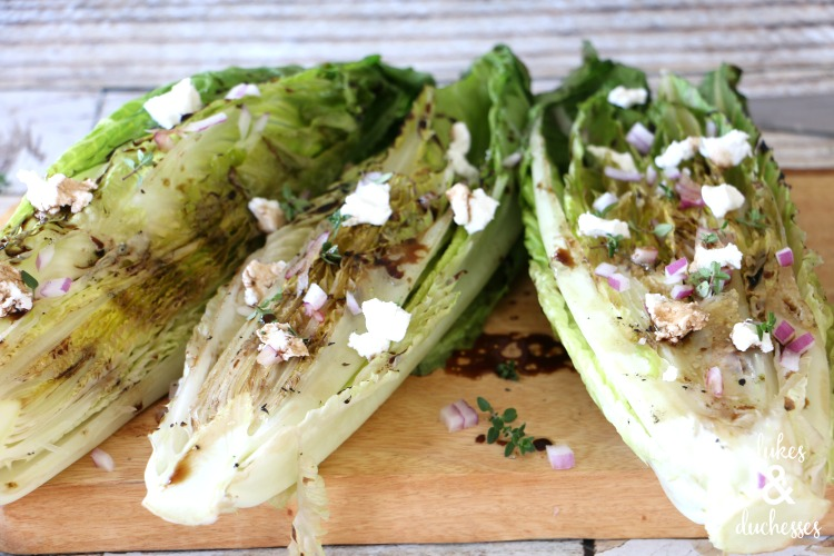 grilled romaine salad with balsamic dressing