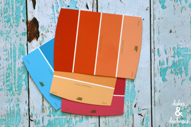 paint swatches for colorful crafting