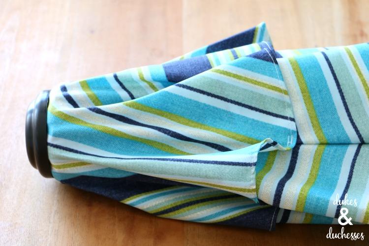 striped outdoor umbrella for outdoor living
