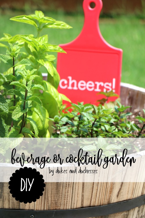 DIY beverage or cocktail garden