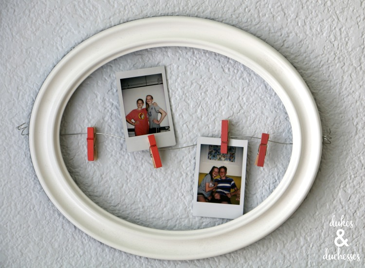 frame and wire polaroid photo hanger