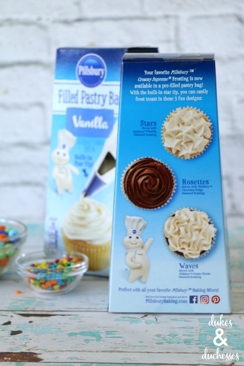 pillsbury filled pastry bags to decorate cakes and cupcakes