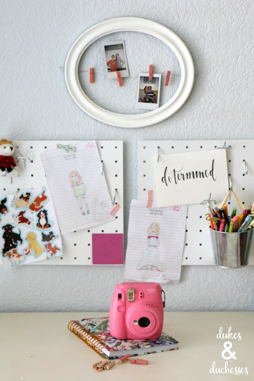polaroid frame hanger for girls room