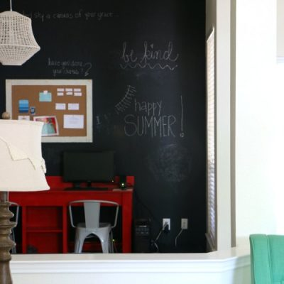Giant Chalkboard Wall in Home Office