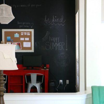 Giant Chalkboard Wall in Home Office