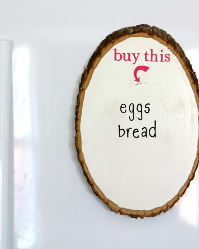 Dry Erase Wood Slice Grocery List