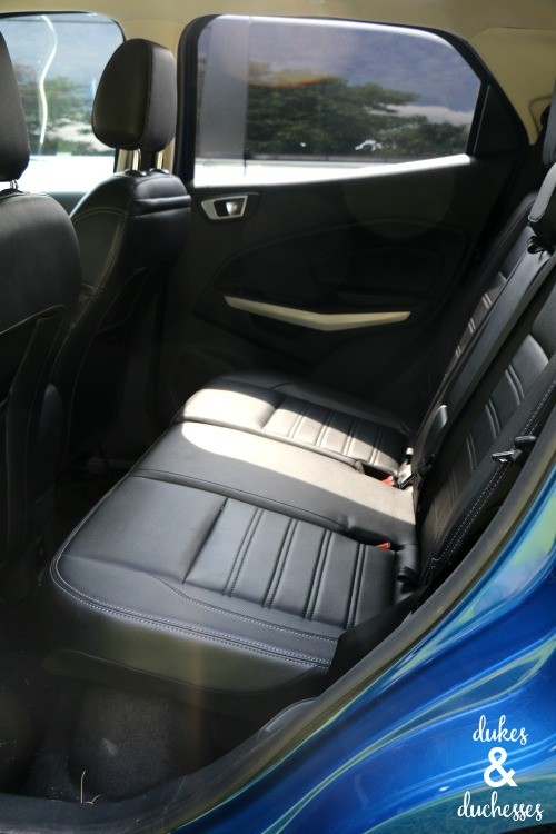 back seat of ford ecosport