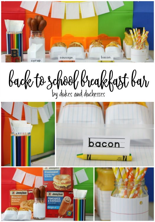 back to school breakfast bar