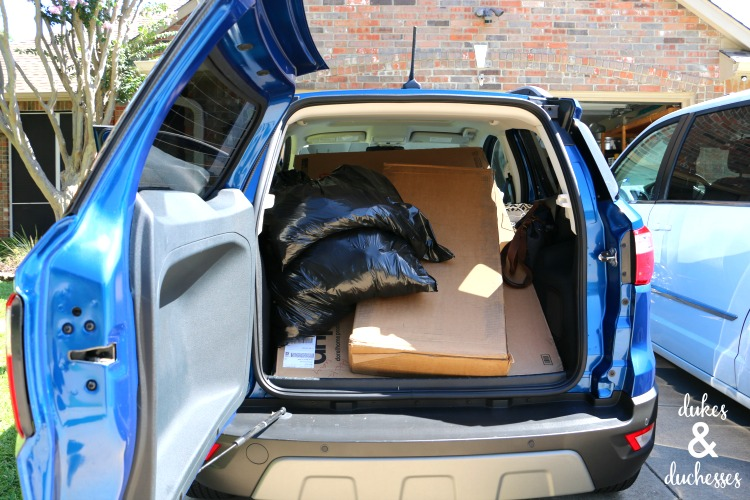 cargo space in ford ecosport