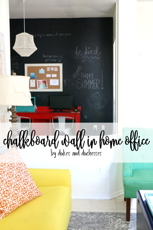 chalkboard wall in home office