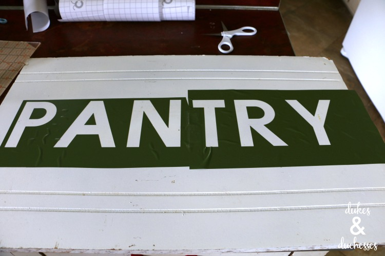 how to make a pantry sign
