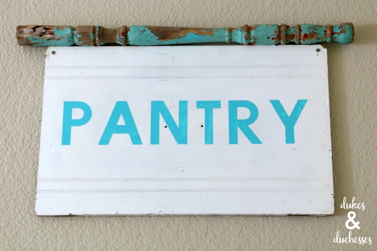 upcycled pantry sign