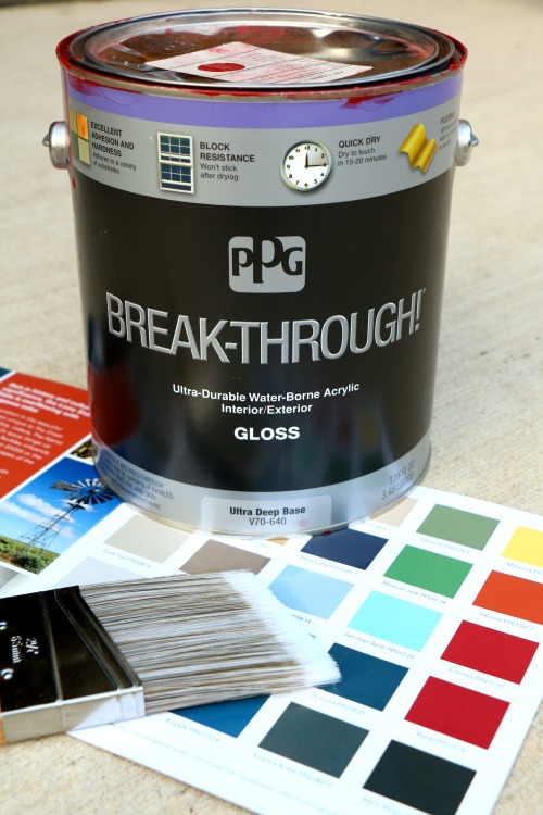 PPG Paints Break-Through and Texas Color Card