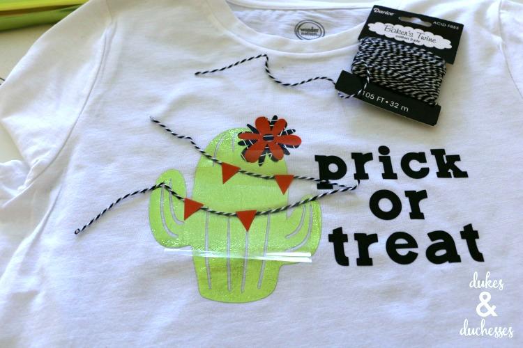 cactus shirt made with cricut maker