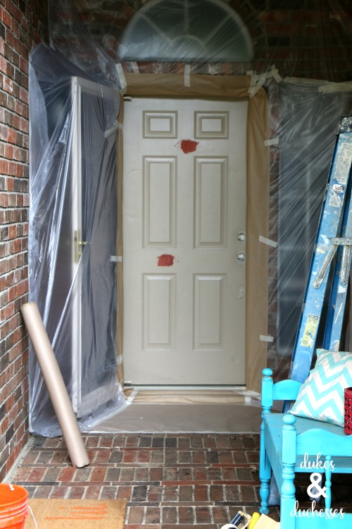 door prepped for painting by paintzen