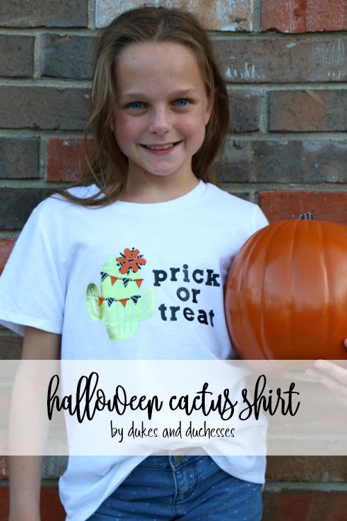 halloween cactus shirt