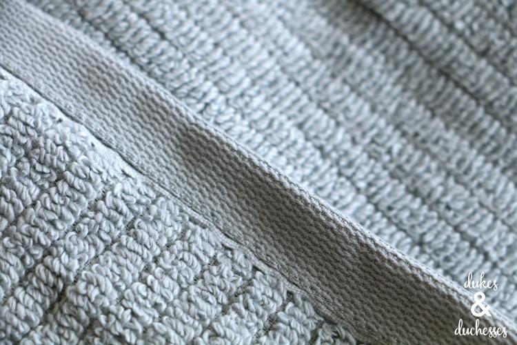 hem of dri soft towel