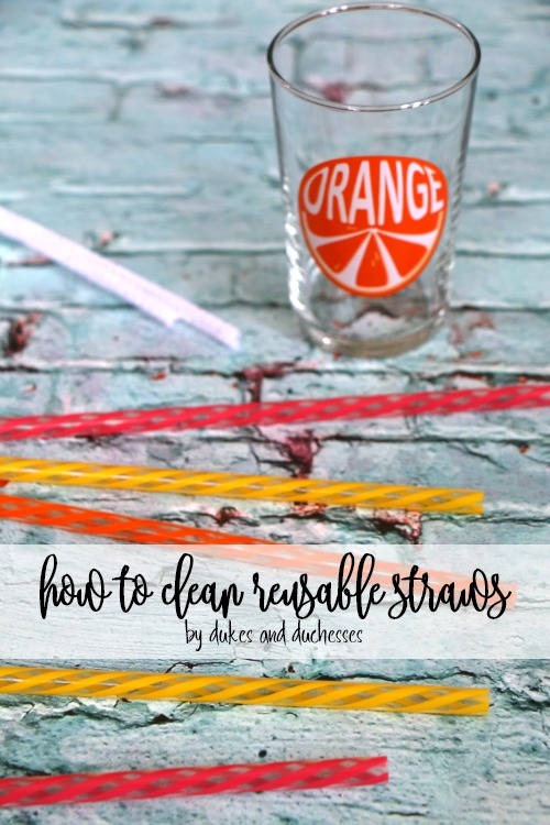 how to clean reusable straws
