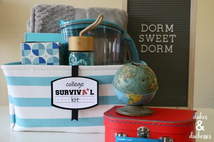 College Survival Kit with Printable
