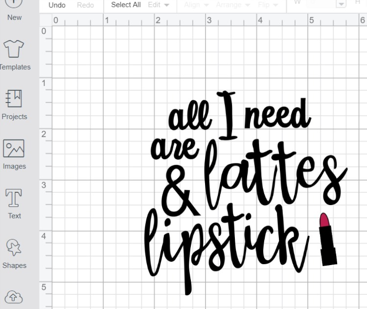 lattes and lipsticks cricut image