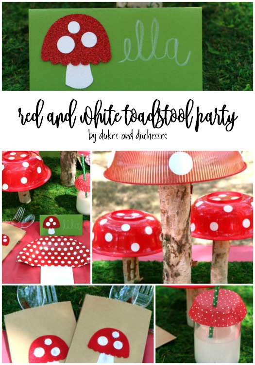 red and white toadstool party