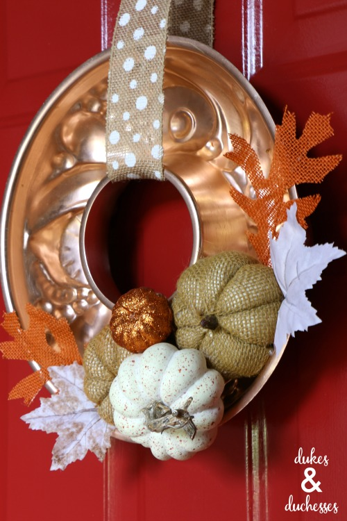 copper mold wreath