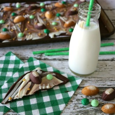 Football Tailgate Chocolate Bark