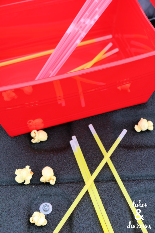 glow sticks for outdoor movie party