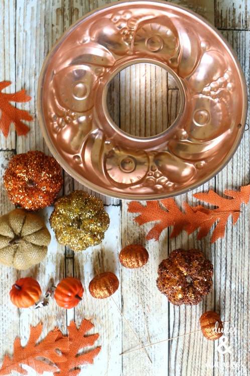 how to make a repurposed fall wreath