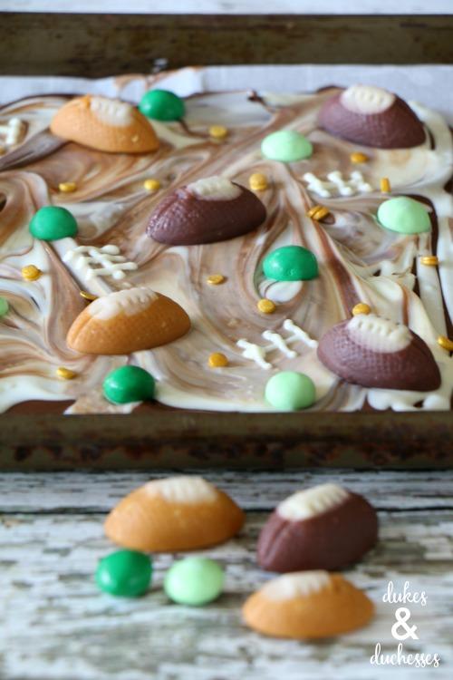 Football Tailgate Chocolate Bark by Randi Dukes