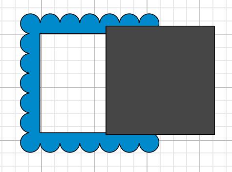 scalloped frame in cricut design space