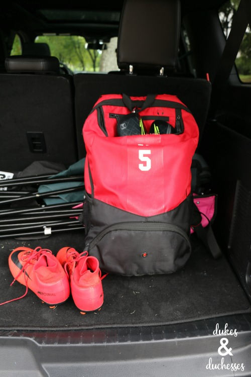 soccer gear in ford expedition