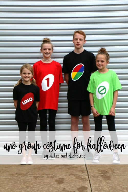 uno group costume for halloween