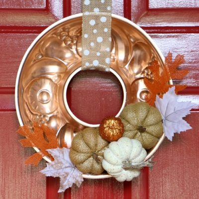 Repurposed Copper Mold Fall Wreath