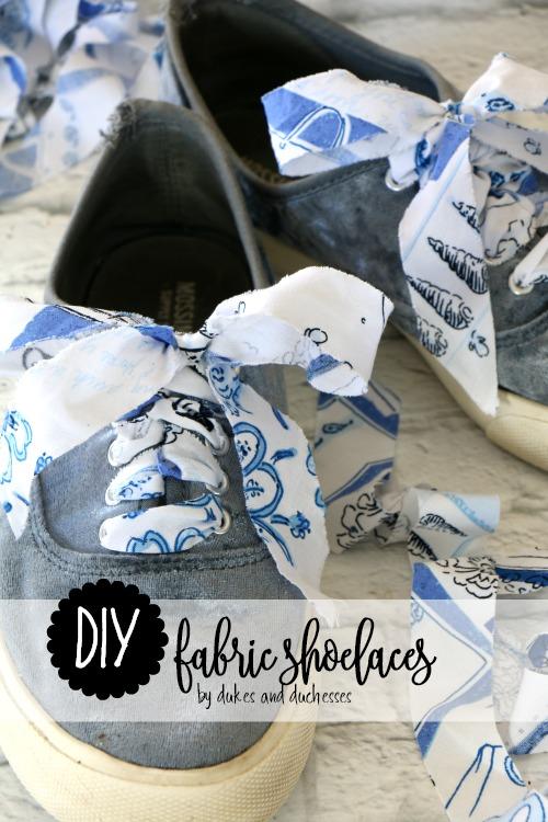 DIY fabric shoelaces